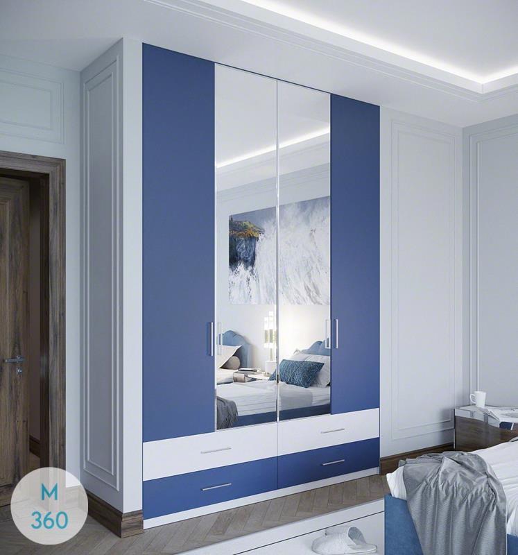 Распашной шкаф с зеркалом Эндрю Арт 000357768