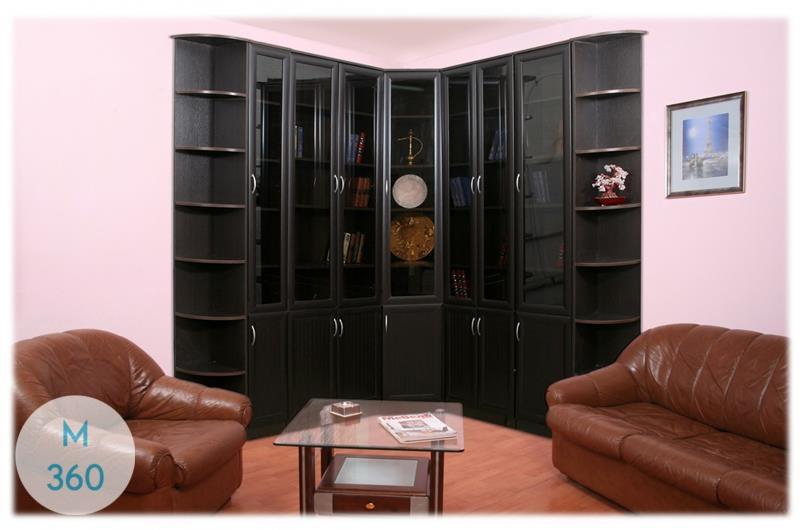Угловой книжный шкаф Лиссабон Арт 000461122